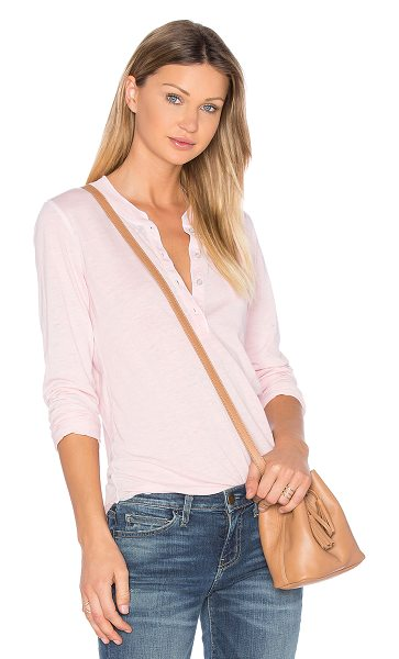 NSF #alldayNSF Hal Top in pink - 50% poly 38% cotton 12% rayon. Partial front button...