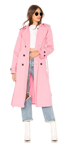 NSF Dorian Trench in pink - 100% cotton. Double-breasted front closure. Side flap...