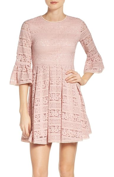 NSR lace skater dress in dusty rose - Sway through the summer season in this lace skater dress...
