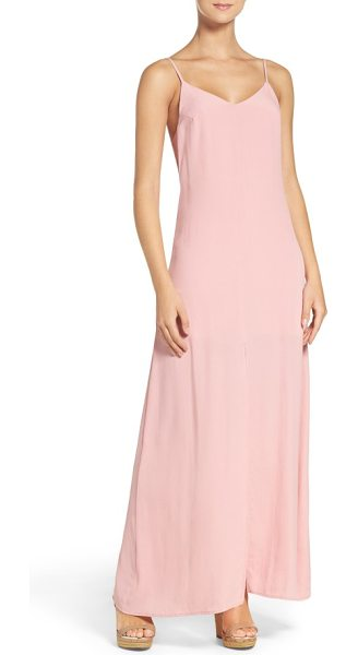 NSR maxi dress in dusty rose - Crisp, airy crepe skims the figure in this alluring...