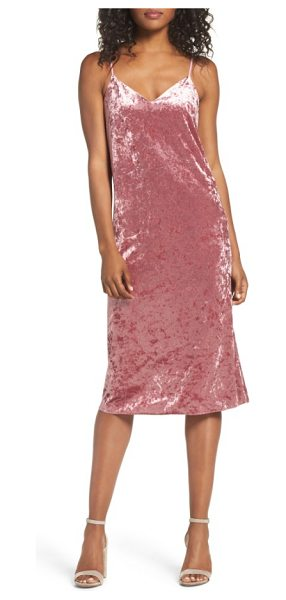 NSR velvet midi slipdress in vintage rose - Luxe in plush crushed velvet, this saucy cocktail dress...