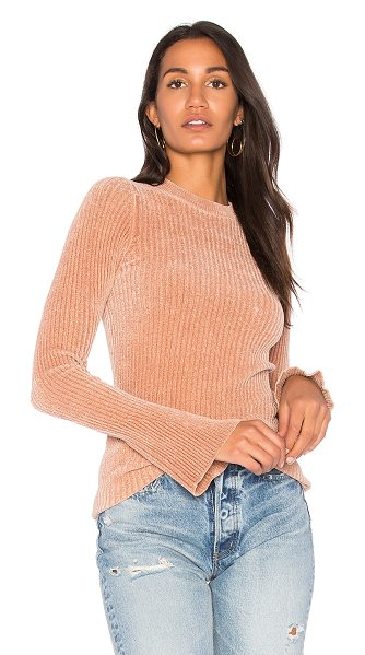 NUDE Round Neck Sweater in rose - Viscose blend. Dry clean only. Slight bell sleeves....