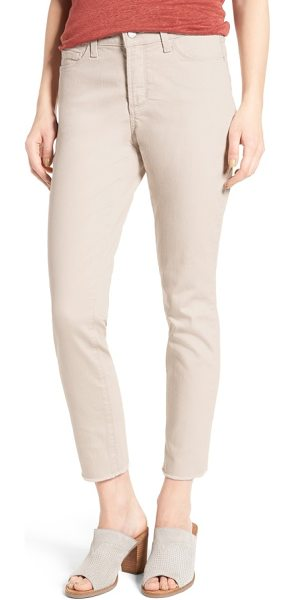 NYDJ alina frayed stretch twill ankle pants in clay - The season's biggest denim trend-frayed hems-updates...