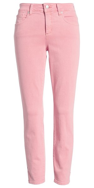 NYDJ ami stretch ankle skinny jeans in primrose - Side-slit hems add to the laid-back vibe of...