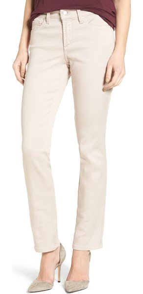 NYDJ 'sheri' stretch twill slim leg pants in rose mist - A choice of rich fall shades updates five-pocket pants...