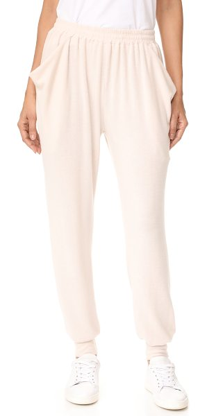 NYTT drape pocket sweats in bone - These slouchy NYTT sweatpants have loose, draped front...
