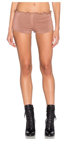 NYTT Lounge short in brown - 95% rayon 5% spandex. Hand wash cold. Elastic waist with...