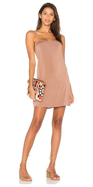 NYTT Tank Dress in blush - Poly blend. Hand wash cold. Unlined. Crisscross double...