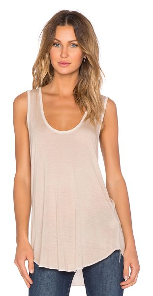 NYTT V neck tank in beige - 100% rayon. Hand wash cold. NYTR-WS4. PDT1092.