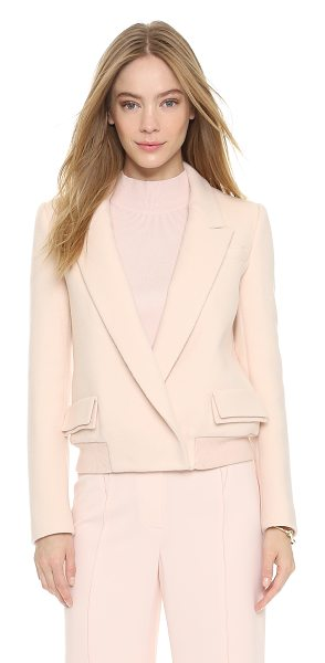O'2ND Light sorbet jacket in light pink - This creamy felt O'2nd jacket offers smart style with a...