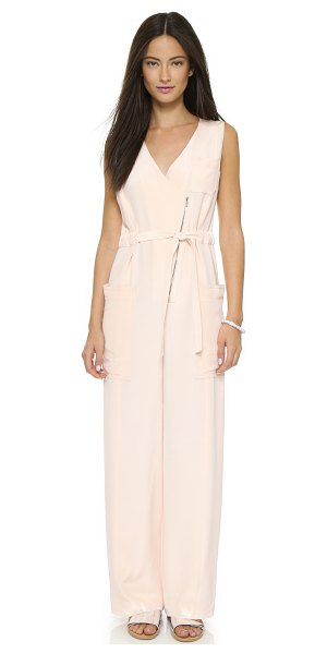 O'2ND Marion jumpsuit in light pink - Utility meets luxury on this silk O'2nd jumpsuit. The...