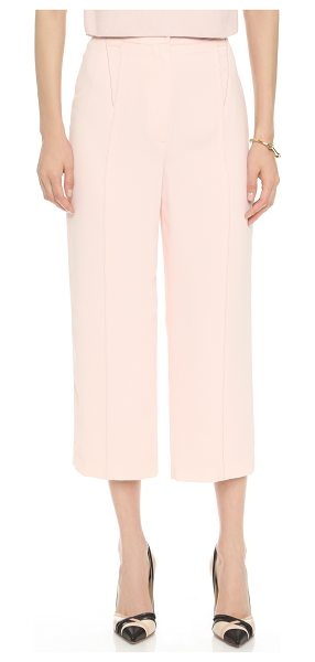 O'2ND Ponita wide leg trousers in light pink - High waisted O'2nd pants in a cropped, wide leg profile....