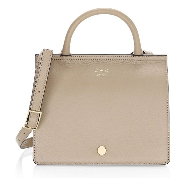OAD mini prism convertible shoulder bag in taupe - A mini version of our classic Prism: Crafted from...