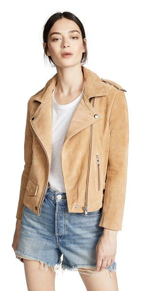 Oak rider jacket in camel - Fabric: Nappa leather Leather: Cowhide Full-zip style...
