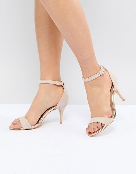 Oasis barely there heeled sandals in nude - Sandals by Oasis, Sweet looks from the ground up,...