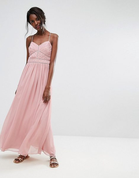 Oasis chiffon maxi dress in pink