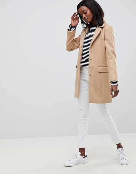 Oasis faux fur shawl collar coat in beige - Coat by Oasis, So good, you won't want to take it off,...