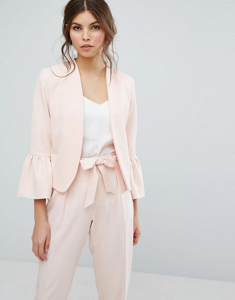 "Oasis Fluted Sleeve Blazer in pink - """"Blazer by Oasis, Smooth woven fabric, Open front,..."
