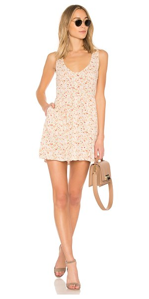 Obey Chase Dress in blush - 100% rayon. Hand wash cold. Unlined. Front button...