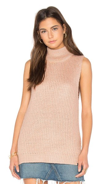 Obey Covert Sweater Turtleneck in rose - 47% acrylic 30% nylon 13% wool 10% alpaca. Hand wash...