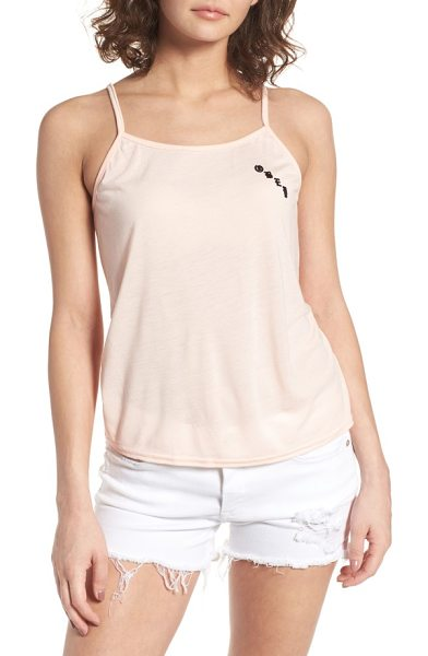 Obey olde tank in taupe - Obey goes olde school with this relaxed cami cut from...