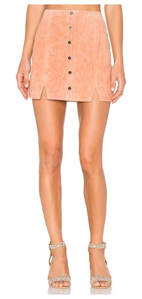 OBEY Soho Suede Skirt - Self: 100% leatherLining: 100% poly. Professional...