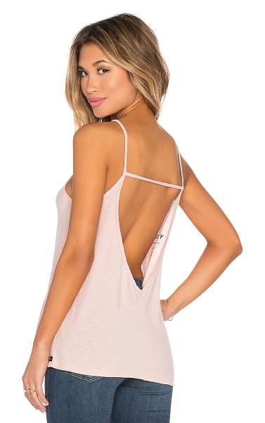OBEY Thea open back tank in pink - 100% cotton. OBEY-WS296. 265990000. OBEY Clothing was...