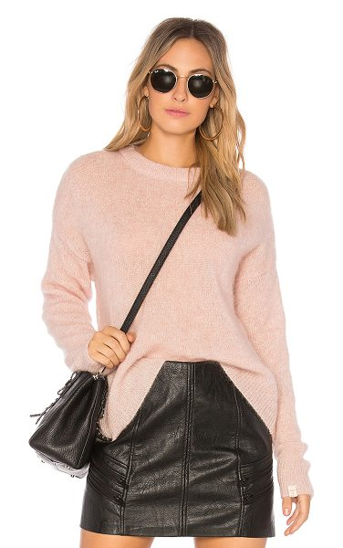 Obey Veronica Crew Knit in blush - 32% mohair 32% wool 31% nylon 5% spandex. Hand wash...