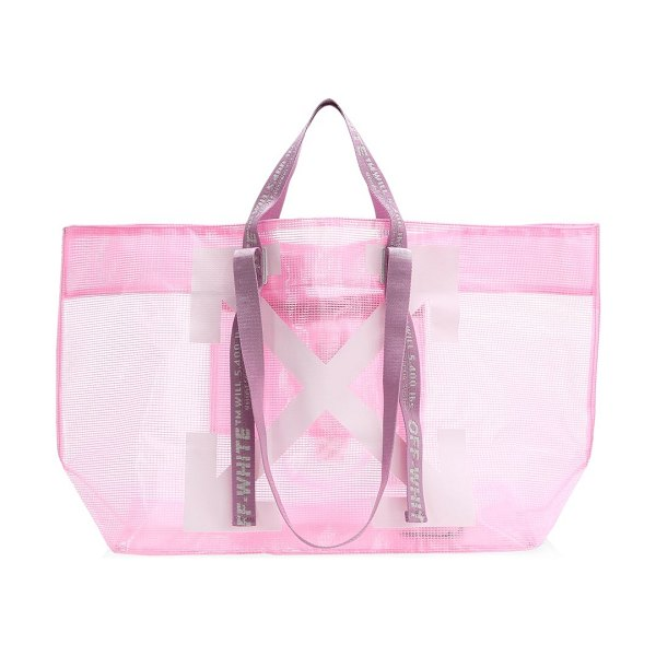 OFF-WHITE commercial pvc tote in pink
