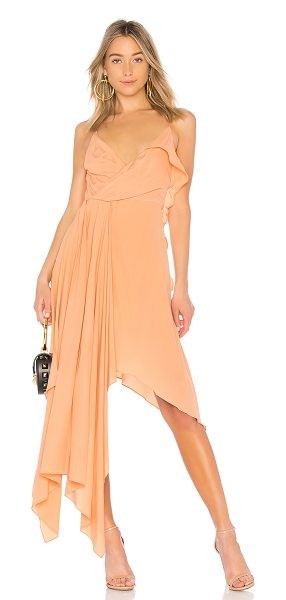 OFF-WHITE Draped Princess Dress in rose - 75% acetate 25% silk. Dry clean only. Surplice front....