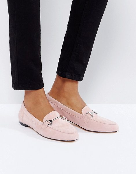 OFFICE Blush Suede Loafers - Flat shoes by Office, Suede upper, Slip-on style, Bar...