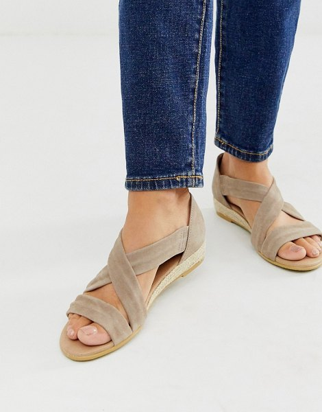 Office hallie camel suede espadrille flat sandals in pinksuede