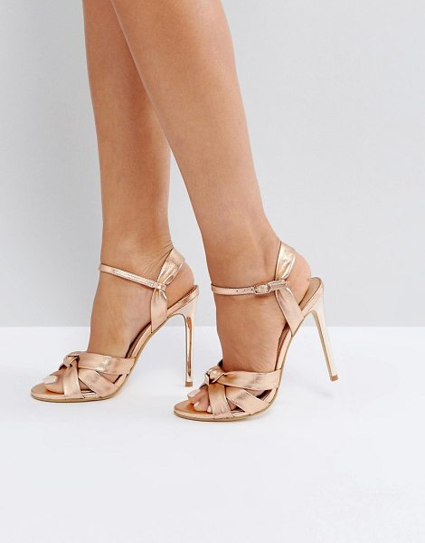 Hollie Rose Gold Heeled Sandals - Rose gold Office 4GJsAZE