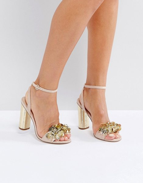 "Office Honor Embellished Sandals in pink - """"Sandals by Office, Textile upper, Ankle-strap..."
