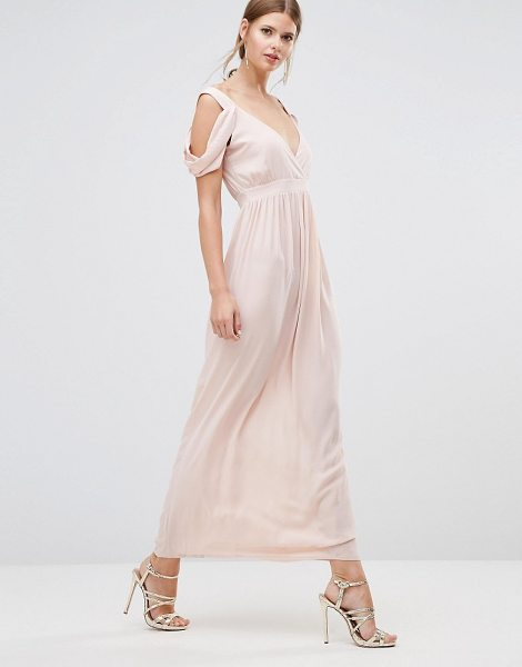 Oh My Love Cowl Shoulder Maxi Dress in pink