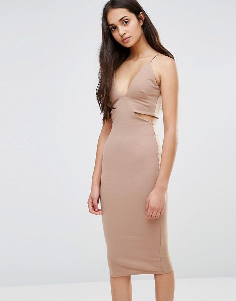 OH MY LOVE Cut Out Dress - Dress by Oh My Love, Thick jersey, Plunge front, Cami...