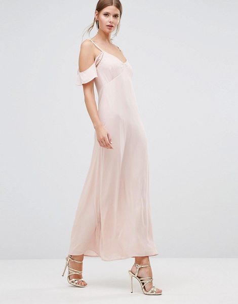 """Oh My Love Frill Off Shoulder Maxi Dress in pink - """"""""Maxi dress by Oh My Love, Lined woven fabric,..."""