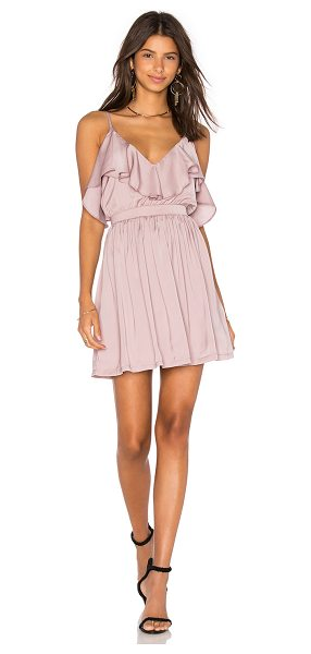 Oh My Love Grecian Frill Dress in mauve - 100% poly. Fully lined. Back hidden zipper closure....
