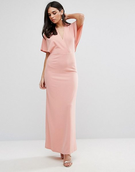 "Oh My Love Maxi Dress With Kimono Sleeves in pink - """"Maxi dress by Oh My Love, Smooth stretch fabric,..."