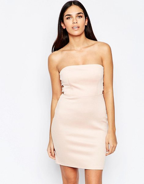 Oh My Love Side Tab Bodycon Dress in pink - Dress by Oh My Love, Smooth stretch fabric, Bandeau...