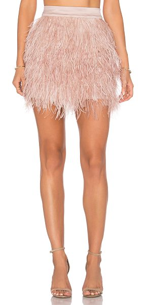 Olcay Gulsen Mini Feather Skirt in blush - Shell: 100% feathersLining: 100% poly. Hand wash cold....