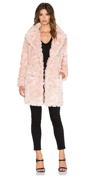 Olcay Gulsen Offspring faux fur coat in pink - Shell: 92% acrylic 8% polyLining: 100% poly. Dry clean...