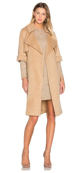 Olcay Gulsen Short Sleeve Flap Coat in ginger - Self: 36% acrylic 33% wool 26% poly 5% other...