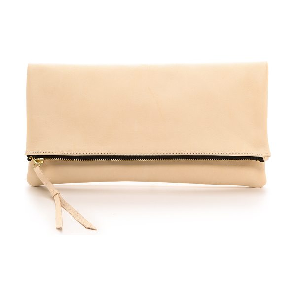 OLIVEVE Anastasia clutch in pink - A fold over Oliveve clutch cut from smooth leather. Zip...