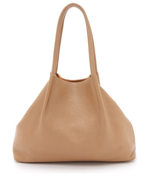 OLIVEVE Lulu tote - A minimalist Oliveve tote in pebbled leather. Raw top...