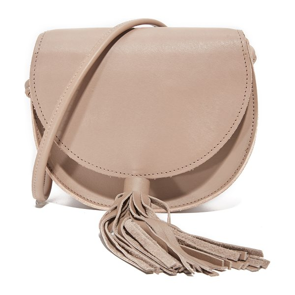 Oliveve mallory saddle bag in mink - A simple Oliveve saddle bag in smooth leather. Slim back...