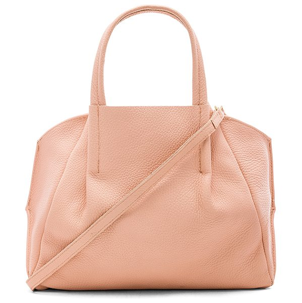 """Oliveve Zoe Tote in blush - """"Leather exterior with raw leather lining. Open top...."""