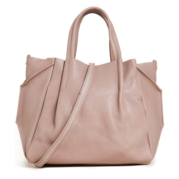 Oliveve zoe tote in rose - Folded gussets enhance the slouchy profile of this...