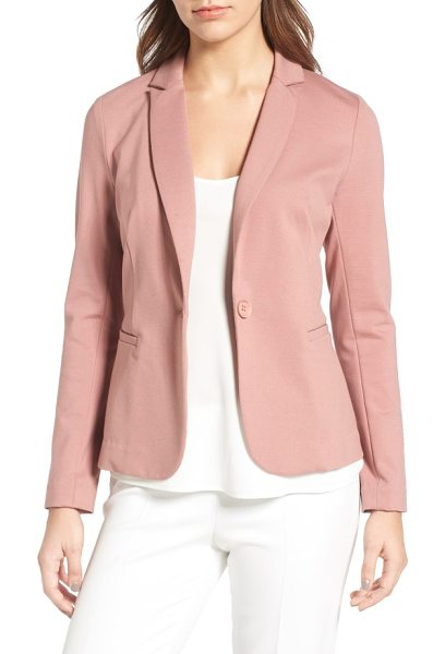 Olivia Moon knit blazer in mauve - A lightweight knit blazer with modern styling details is...