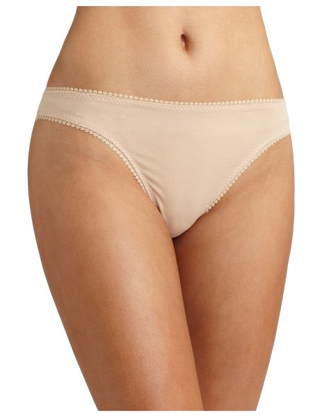 On Gossamer cabana cotton hip-g thong in champagne